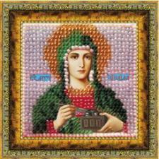 Икона Св.Муч.Зинаида Тарсийская (с акрил.рамкой).  Размер - 6,5 х 6,5 см.