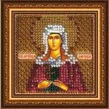 Икона Св.Муч.Лариса Готфская (с акрил.рамкой).  Размер - 6,5 х 6,5 см.