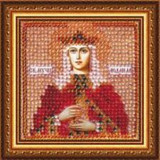Икона Св.Муч.Людмила,кн.Чешская (с акрил.рамкой). Размер - 6, 5 х 6,5 см.