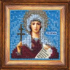Икона Св.муч.Татиана(с акрил. рамкой). Размер - 6,5 х 6,5 см.