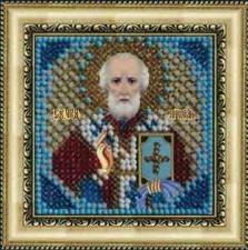 Икона Св.Николай Чудотворец(с акрил. рамкой). Размер - 6,5 х 6,5 см.