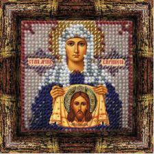 Икона Св.Праведная Вероника (Виринея)(с акр.рамкой). Размер - 6,5 х 6,5 см.