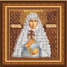 Икона Св.Прмуч.Великая кн.Елисавета (с акрил.рамкой). Размер - 6,5 х 6,5 см.