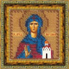Икона Св.Прп.Ангелина Сербская(с акр. рамкой). Размер - 6,5 х 6,5 см.