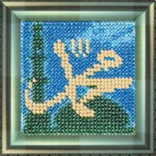 Мухаммад-пророк Аллаха(с акрил. рамкой).  Размер - 6,5 х 6,5 см.