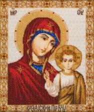 Икона.Богородица Казанская. Размер - 28 х 34 см.