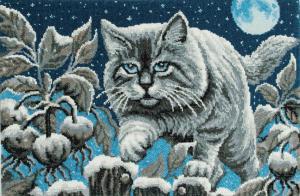 Лунный кот. Размер - 45 х 30 см.
