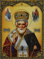Икона Святителя Николая Чудотворца. Размер - 21,5 х 28,5 см.