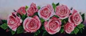 Розовое настроение. Размер - 59 х 25 см.