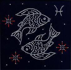 """Знак зодиака """"Рыбы"""". Размер - 18 х 18 см."""