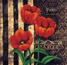 """Французские цветы """"Тюльпаны"""". Размер - 29 х 29 см."""