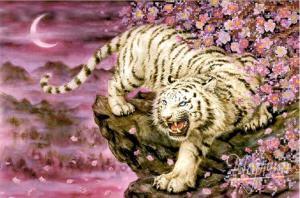 Бенгальский тигр. Размер - 37 х 25 см.