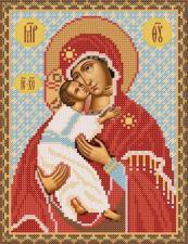 Богородица Владимирская. Размер - 18 х 24 см.