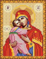 Богородица Владимирская. Размер - 13 х 16 см.