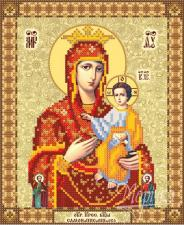 Самонаписавшаяся икона Божией Матери. Размер - 18 х 22 см.