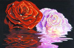 Две розы. Размер - 34 х 28 см.