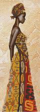 Девушка из Анголы. Размер - 16 х 52 см.