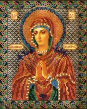 Богородица Умягчение злых сердец. Размер - 20 х 25 см.