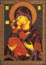 Владимирская Богородица. Размер - 18 х 25 см.