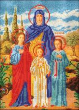 Икона Вера,Надежда,Любовь и мать их София. Размер - 19 х 26 см.