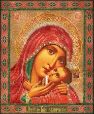 Касперовская Богородица. Размер - 19 х 23 см.
