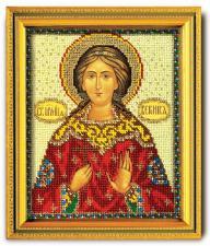 """Икона из ювелирного бисера """"Св.Вероника"""". Размер - 12 х 14,5 см."""