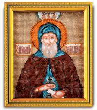 "Икона из ювелирного бисера ""Св.Даниил"". Размер - 12 х 14,5 см."
