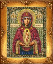 Богородица Албазинская. Размер - 18 х 22,5 см.