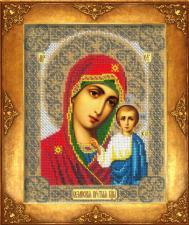Богородица Казанская. Размер - 18 х 22,5 см