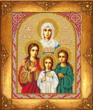 Вера,Надежда,Любовь и мать их София. Размер - 18 х 22,5 см