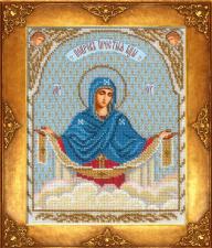 Покров Пресвятой Богородицы. Размер - 18 х 22,5 см.