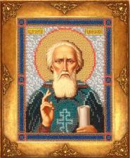 Св.Сергий Радонежский. Размер - 12,5 х 16,3 см
