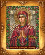 Богородица Умягчение злых сердец. Размер - 12,5 х 16,3 см.