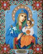 Богородица Неувядаемый цвет. Размер - 17,8 х 22,5 см.