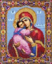 Икона Божией Матери Владимирская. Размер - 17,2 х 21 см.