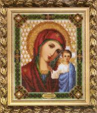 Икона Божьей Матери Казанская. Размер - 17,5 х 21,7 см