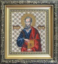 Икона апостол Павел. Размер - 9 х 11 см.