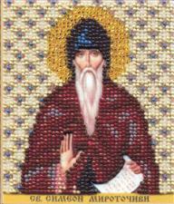 Икона Св.Прп.Симеон (Семён). Размер - 9 х 11 см.