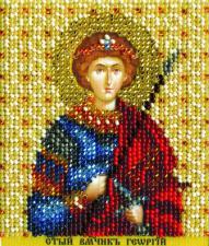 Икона св. Георгий. Размер - 9 х 11 см.