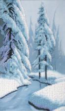 Зимняя сказка. Размер - 18 х 30,5 см.