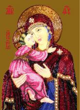 Богородица Владимирская. Размер - 20 х 28 см.