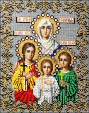 Икона Вера,Надежда,Любовь и мать их София. Размер - 26 х 34 см.