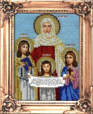 Икона Вера,Надежда,Любовь и мать их София. Размер - 12 х 16 см.