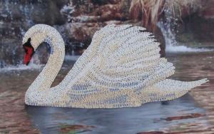 Лебедь. Размер - 33 х 21 см.