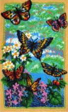 Порхающие бабочки. Размер - 22 х 36 см.
