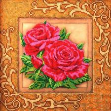Роскошные розы. Размер - 20,5 х 20,5 см.