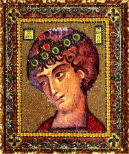 Святой Георгий Победоносец. Размер - 21 х 25 см.
