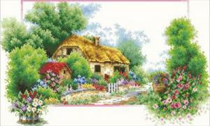 Весенний домик. Размер - 60 х 35 см.