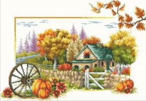 Осенний пейзаж. Размер - 60 х 45 см.