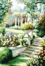 Цветочный сад. Размер - 60 х 75 см.
